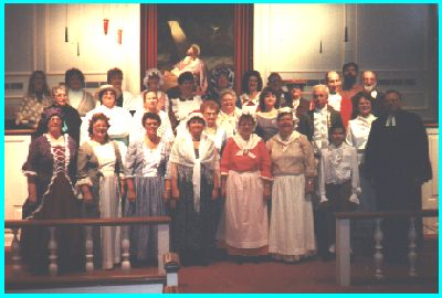 Church Members Wearing Period Costumes