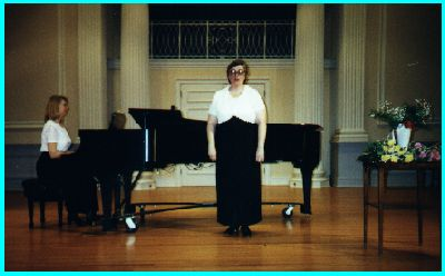 Barb(at piano) and Janice at Gettysburg College